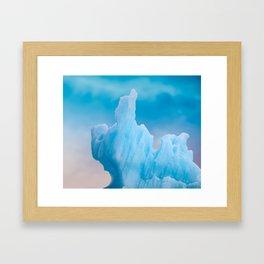 Abstract Icelandic Iceberg Framed Art Print