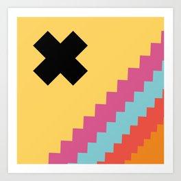 Geometric Shape 7 (Vintage Geometry) Art Print