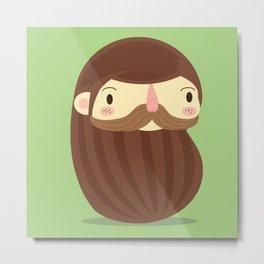 B is for Beard Metal Print