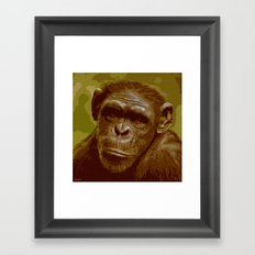 camo monkey! Framed Art Print