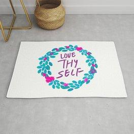 Tropical Watercolour Love Thy Self Rug