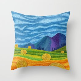 Hay Day Throw Pillow