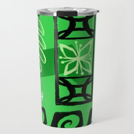Hawaiian Pattern #1 - green! Travel Mug