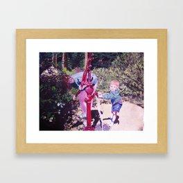 Michael at the Waterpump Framed Art Print