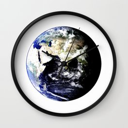 Earth Globe Wall Clock