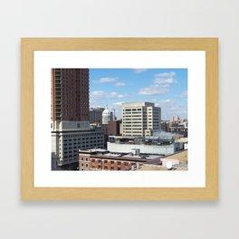Baltimore Skyline Framed Art Print