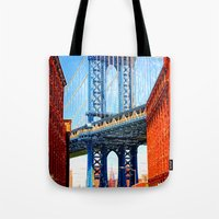 dumbo Tote Bags featuring Dumbo by Michael Sofronski