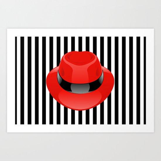 Red Hat Art Print