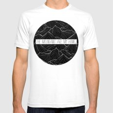 The mountains are my home White Mens Fitted Tee SMALL