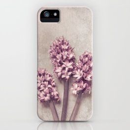 Lovely pink Hyacinths iPhone Case