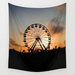 Sunset Ferris Wheel Wall Tapestry