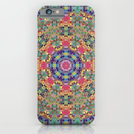 Stained Glass Mandala iPhone Case