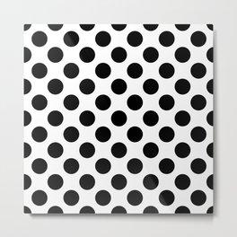 Geometric Pattern 136 (Polka black) Metal Print