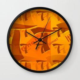 T - pattern 2 Wall Clock