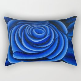 Blue Rose Rectangular Pillow