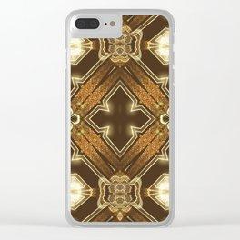 Golden Mali | Fractal Ruffles Clear iPhone Case