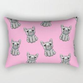 French Bulldogs PINK Rectangular Pillow