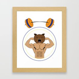 The Bear Athlete by Kayden C. Framed Art Print
