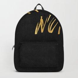 NOPE Copper Gold on Black Backpack