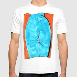 blue butt T-shirt
