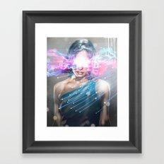 Leaper (time traveller) Framed Art Print