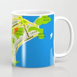 RIO map design - Brasil Coffee Mug