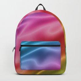 Electric Rainbow Silk Backpack