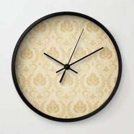 High Resolution Patterned Wallpaper Wall Clock
