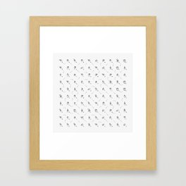 Random Sign Language Framed Art Print