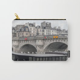 Houseboat near Pont Neuf - Paris Carry-All Pouch