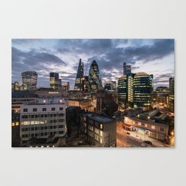 Sunset over London Canvas Print