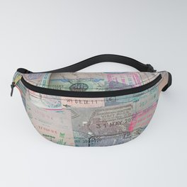 A Celebration of Passport Stamps Fanny Pack