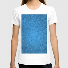 Aquamarine Blue Sparkling Jewels Pattern T-shirt