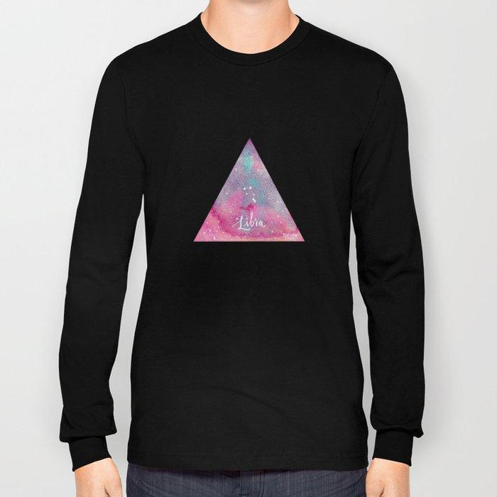 Libra - Astrology Mixed Media Long Sleeve T-shirt