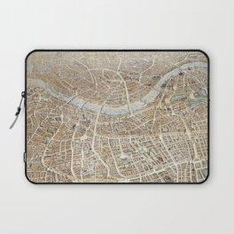 Vintage Pictorial Map of London (1851) Laptop Sleeve