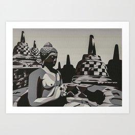 Indonesian Borobudur Templ Art Print