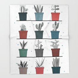 CACTUS POSTER Throw Blanket