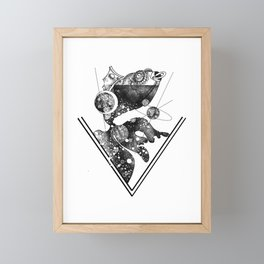 Fish out of water Framed Mini Art Print
