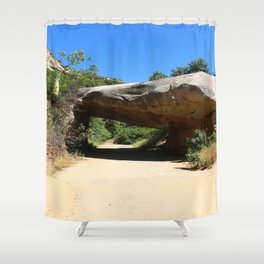 Tunnel Rock Generals Hwy in California Shower Curtain