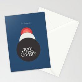 2001 a Space Odyssey, Stanley Kubrick alternative movie poster, dark blue  classic film, cinema love Stationery Cards