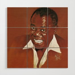 Louis Armstrong Wood Wall Art