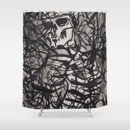 ...static (Ellipsis series) Shower Curtain