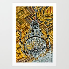 Chandelier at the St. Mary of the Altar of Heaven Basilica Art Print