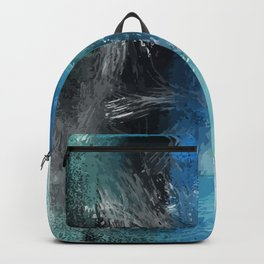 Abstract Blue Azur Backpack