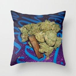 Mermaids smoke seaweed Throw Pillow