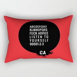 073 FUCK ADVISE LISTEN TO YOURSELF Rectangular Pillow