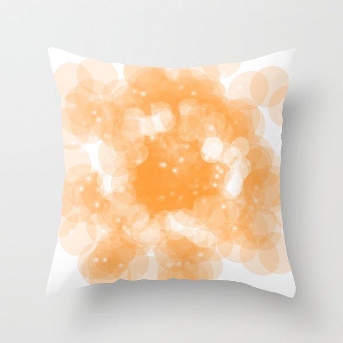 Super Orange Throw Pillow