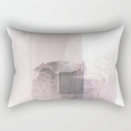 Blush Pink Square Minimalist Abstract Painting Rectangular Pillow