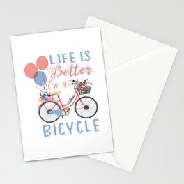 Love Velo bike BMX chain velo bike cycliste eBike Stationery Cards