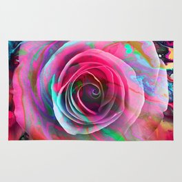Marble Colored Rose Rug